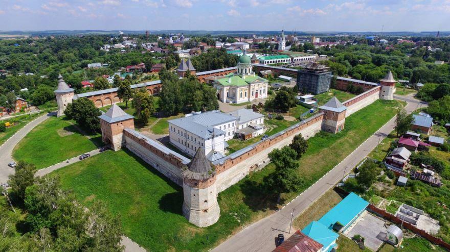 Смотреть красивое фото вид сверху в городе Зарайск