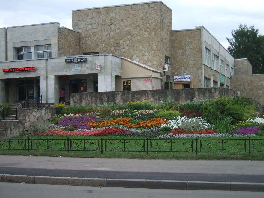 Здание почты в городе Зеленогорск в Красноярском крае