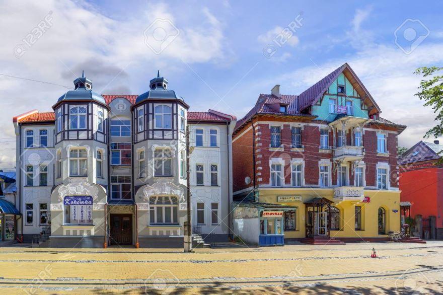Смотреть красивое фото улицы города Зеленоградск в хорошем качестве