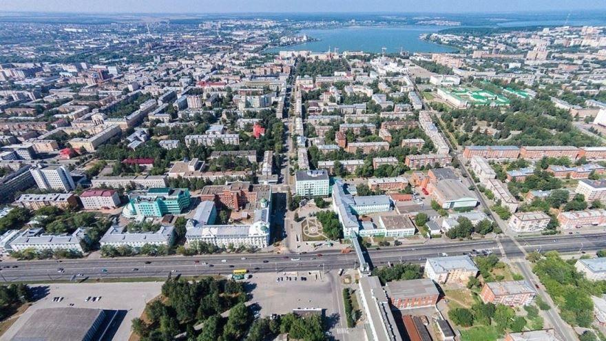 Смотреть красивый вид сверху город Ижевск 2019