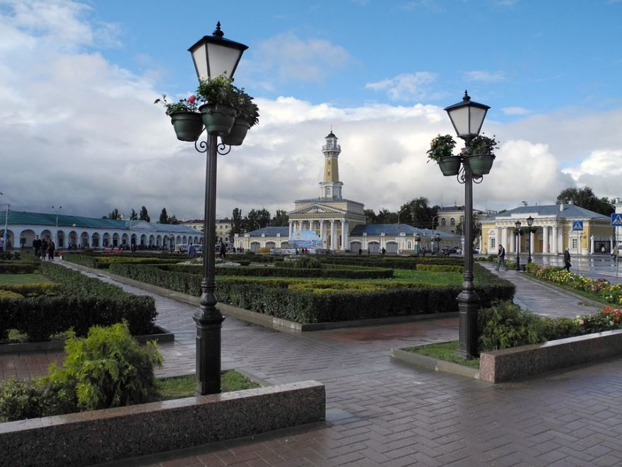 Главная площадь Костромы - город золотого кольца России