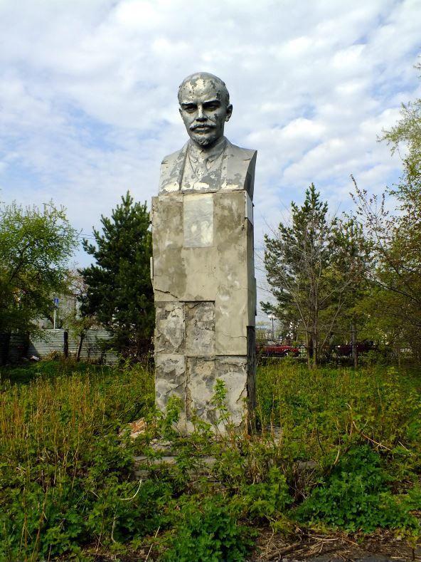 Смотреть фото памятник В.И. Ленину в городе Ишим