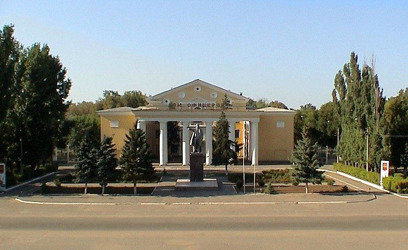 Смотреть красивое здание Дом Офицеров город Знаменск Астраханская область в хорошем качестве