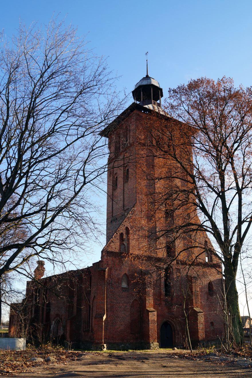 Руины кирхи Святого Якоба город Знаменск Арстраханская область
