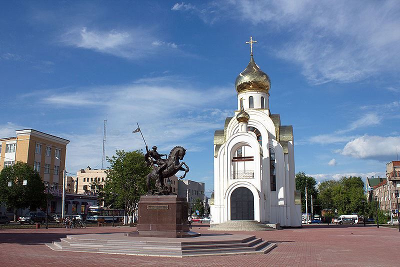 Площадь Победы в городе Иваново