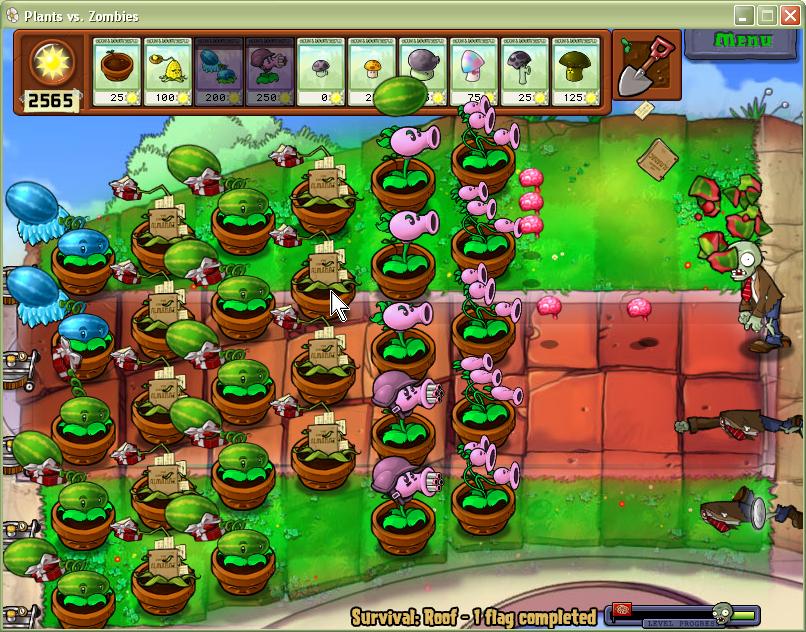 Игра на телефон или компьютер растения против зомби