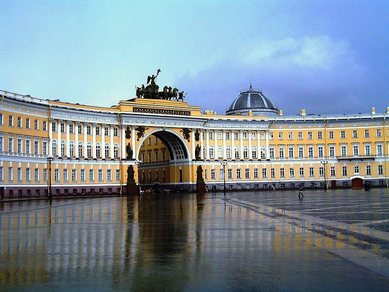 Смотреть лучшее фото города Санкт-Петербурга центр города Дворцовая площадь