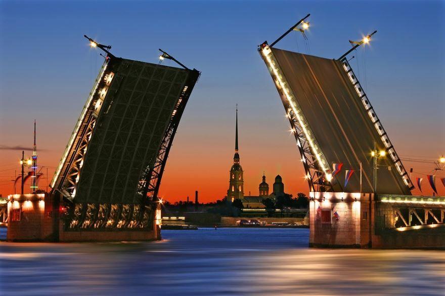 Смотреть лучшее фото города Санкт-Петербург разводной мост