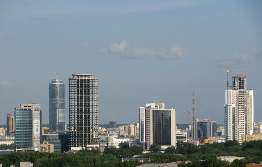 Смотреть лучшее фото города небоскребы Екатеринбурга