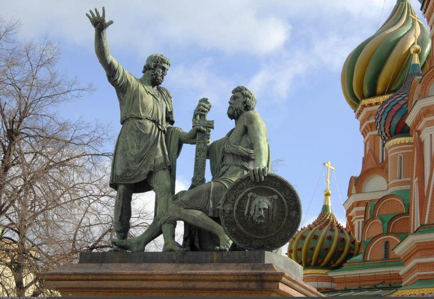 Памятник Минину и Пожарскому на Красной Площади город Москва
