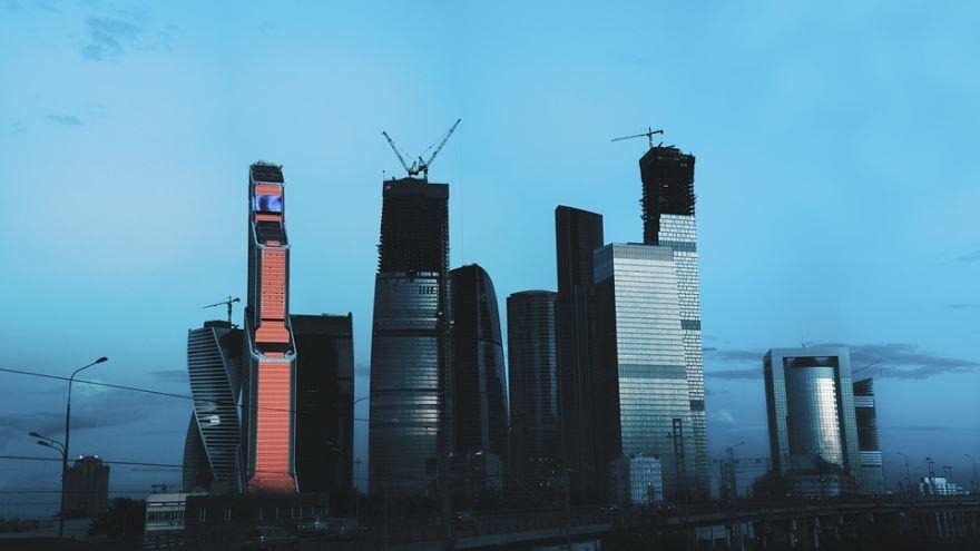 Красивый вид Москва Сити