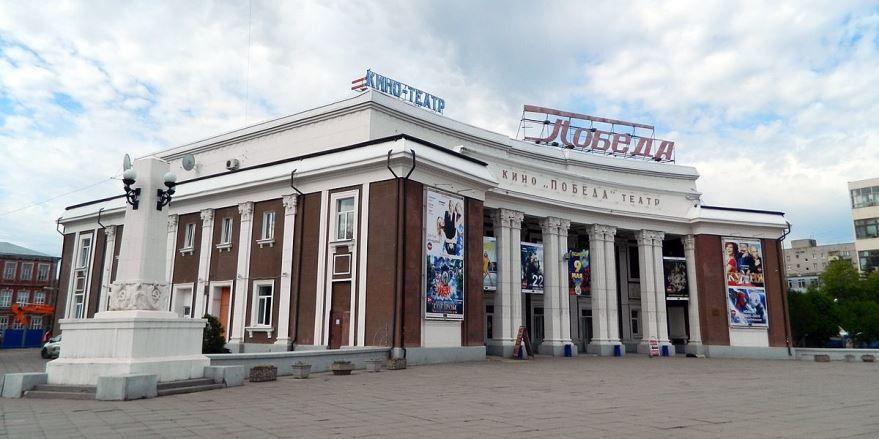 Смотреть красивое фото кинотеатр Победа в городе Саратов в хорошем качестве