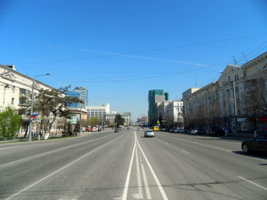 Смотреть красивое фото проспект Ленина в городе Челябинск в хорошем качестве