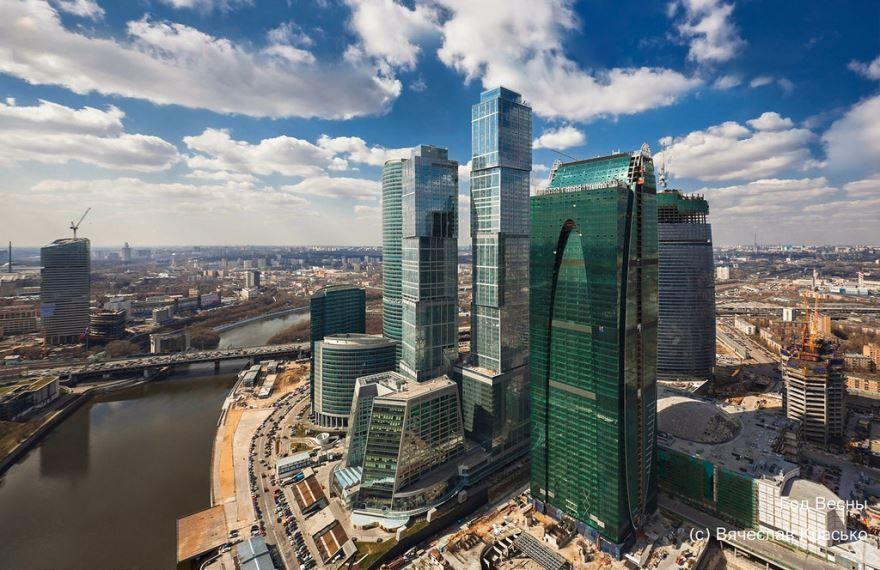 Смотреть красивое фото небоскребы Москвы в хорошем качестве