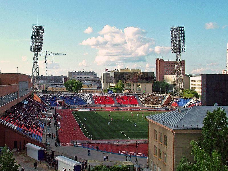 Стадион Спартак город Новосибирск