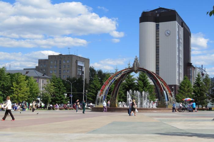 Площадь единства и согласия в городе Тюмень