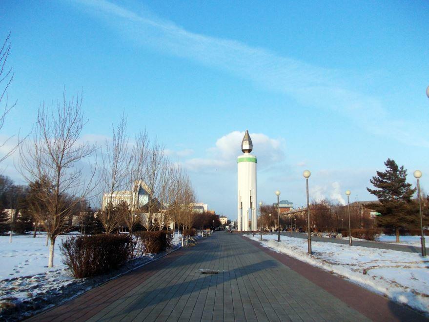 Площадь Памяти в городе Тюмень