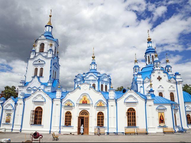Знаменитый Кафедральный собор в городе Тюмень