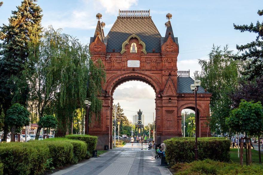 Смотреть красивое фото арка город Краснодар