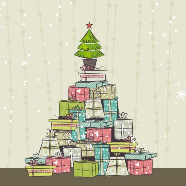 Подарки под елкой картинки