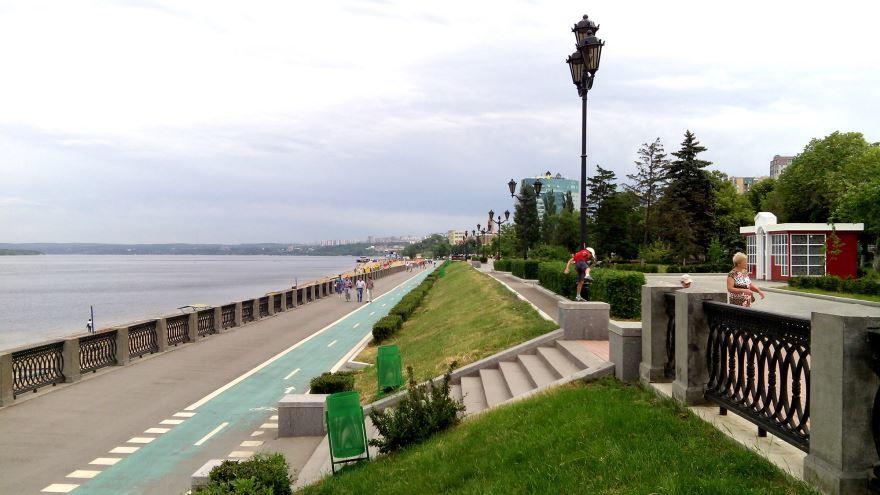 Скачать онлайн бесплатно красивое фото набережная города Самара 2019 в хорошем качестве