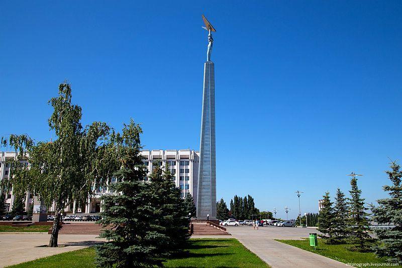 Смотреть красивое фото Площадь Славы город Самара