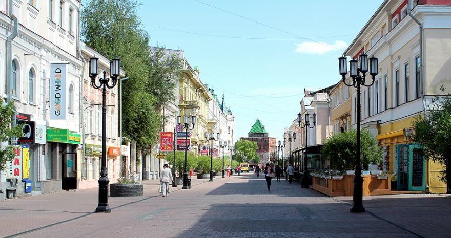Смотреть красивое фото центральная улица города Нижний Новгород в хорошем качестве