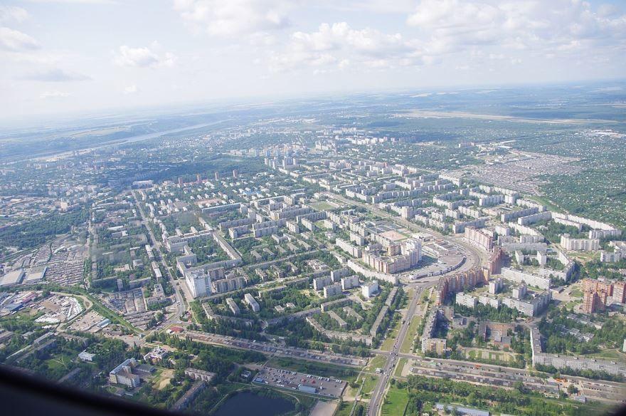 Смотреть красивый вид сверху город Нижний Новгород