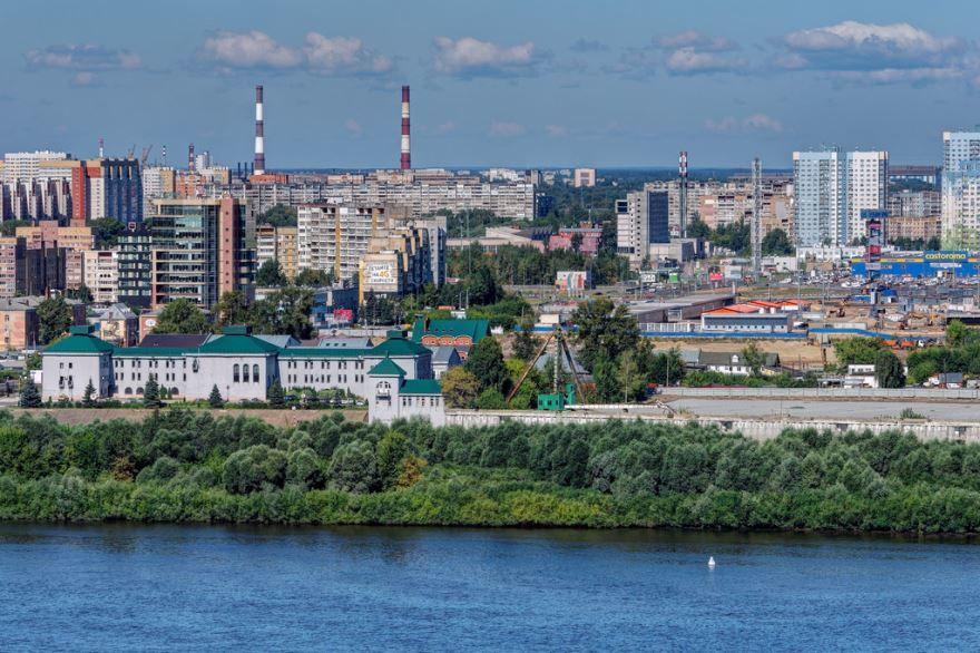Смотреть лучшее фото вид на город Нижний Новгород со стороны реки