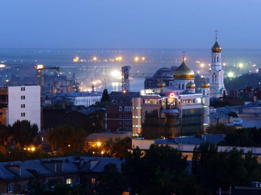Смотреть лучшее фото города Ростов-на-Дону ночной вид города