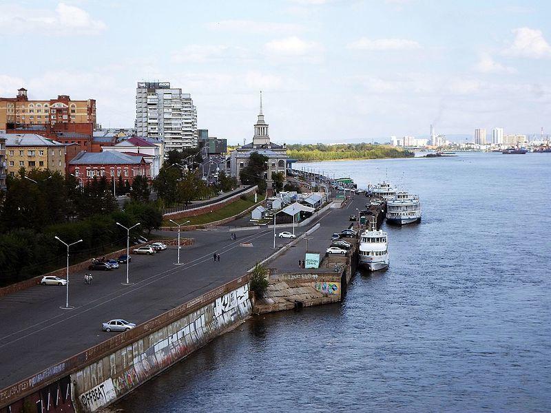 Смотреть красивое фото Речной вокзал город Красноярск 2019