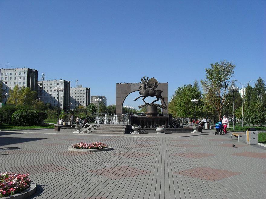 Фонтан в микрорайоне Солнечный город Красноярск