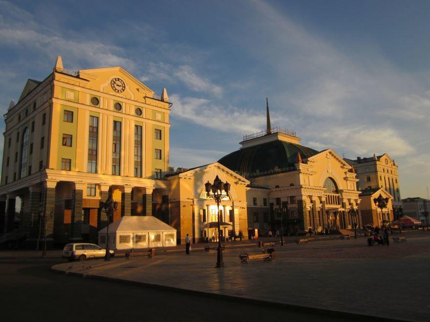 Железнодорожный вокзал город Красноярск 2019