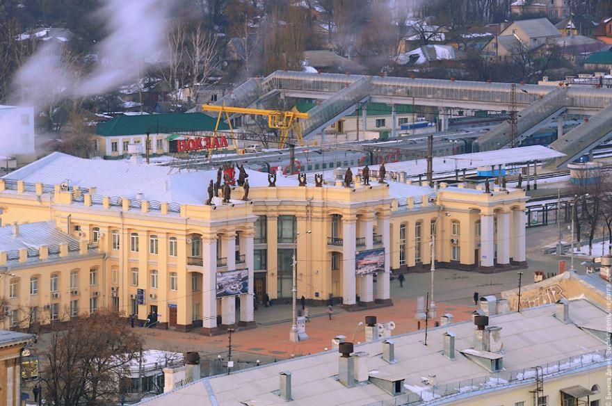 Железнодорожный вокзал город Воронеж