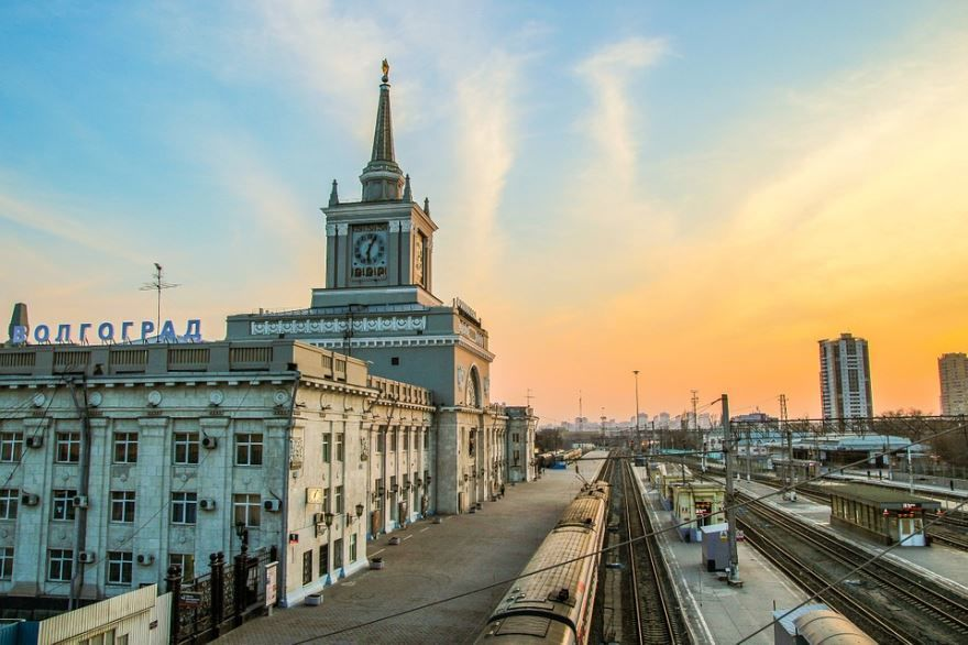 Железнодорожный вокзал город Волгоград