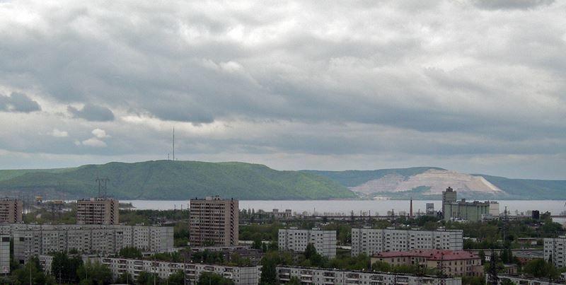 Жигулевские горы со стороны Тольятти