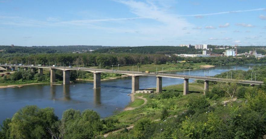 Мост через реку Ока город Алексин