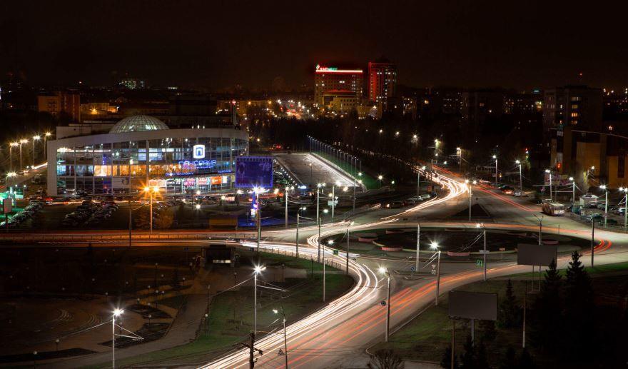 Смотреть красивое фото панорама ночного города Альметьевск