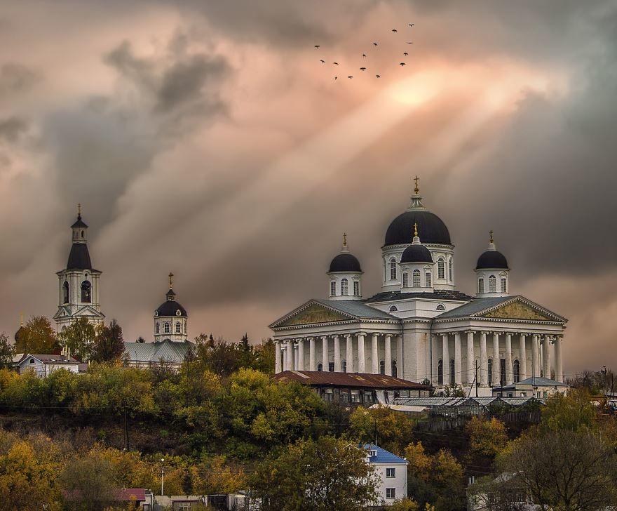 Вид на Воскресенский собор город Арзамас