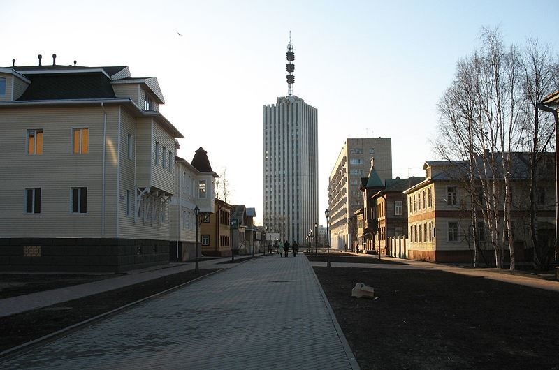 Смотреть красивое фото улица Чумбарова-Лучинского в городе Архангельск в хорошем качестве
