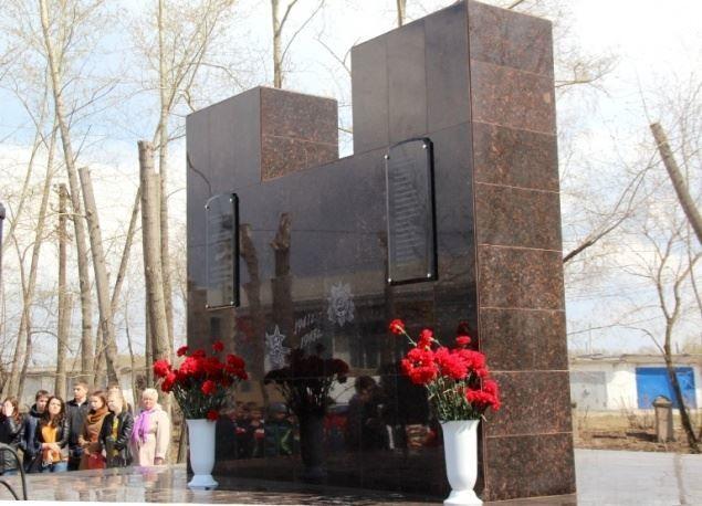 Памятник работникам кирпичного завода погибшим в годы Великой Отечественной войны город Ачинск