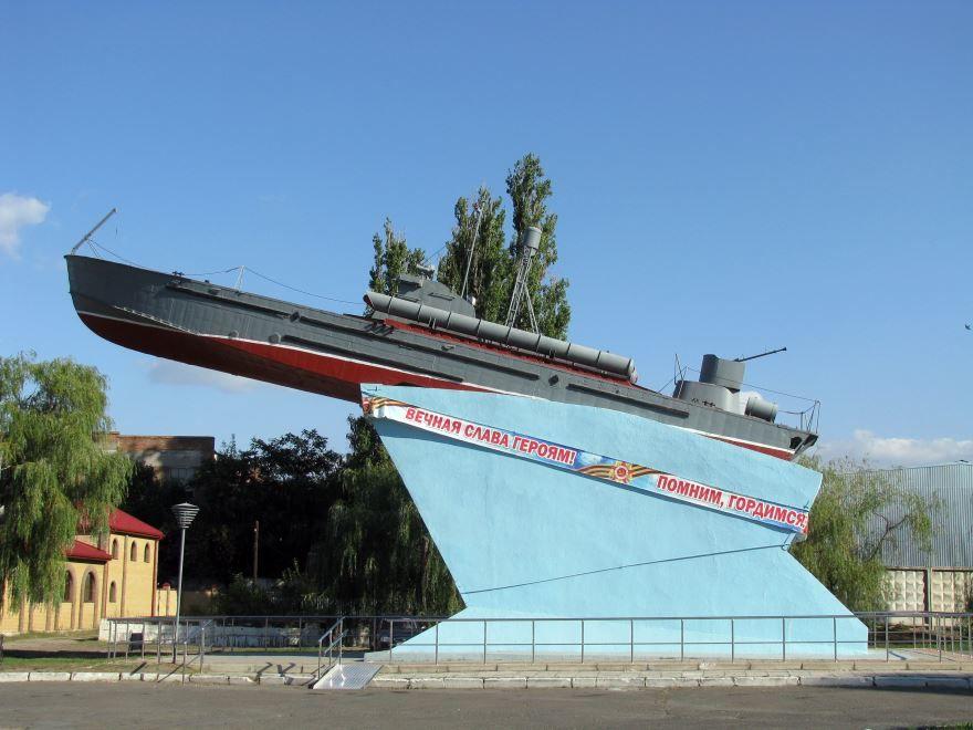 Площадь речного вокзала город Азов Ростовская область