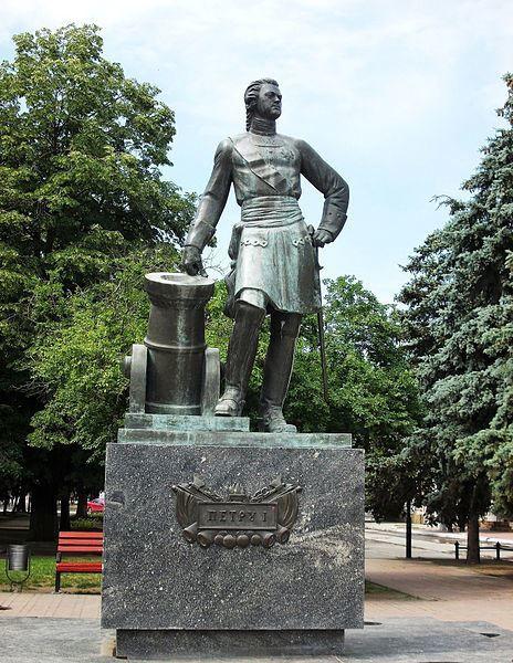Памятник Петру первому город Азов