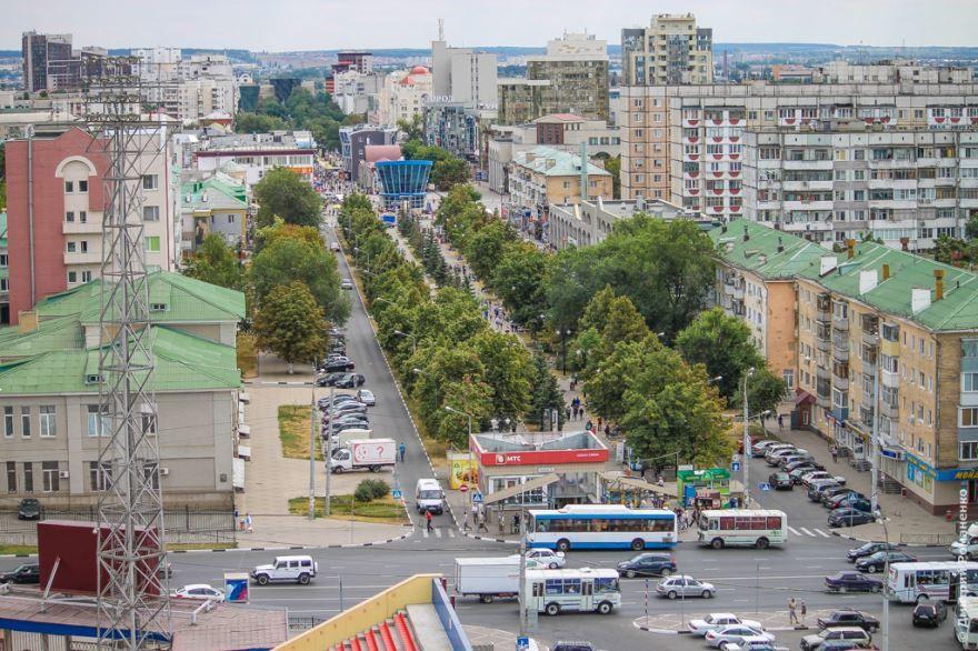 Скачать онлайн бесплатно красивое фото вид на город со стадиона Энергомаш город Белгород