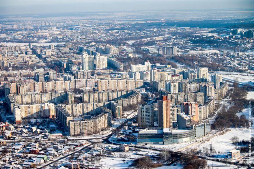 Смотреть красивое фото город Белгород в зимне время года