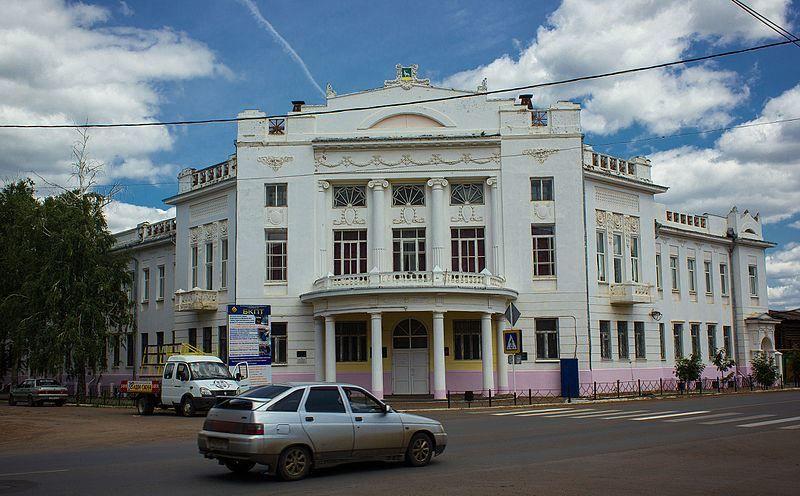 Дом где проходил съезд советов рабочих и солдатских депутатов в городе Бузулук