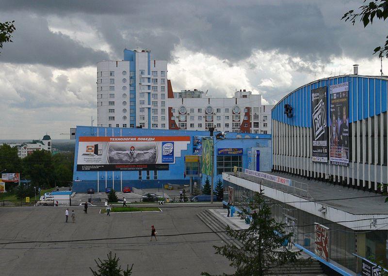 Смотреть красивое фото Площадь Сахарова город Барнаул