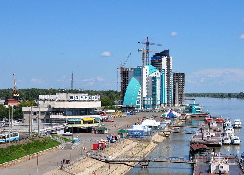 Речной порт город Барнаул