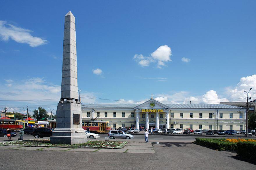 Железнодорожный вокзал город Барнаул