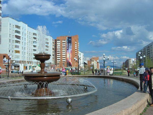 Смотреть лучшее фото города Братск фонтан на площади в хорошем качестве